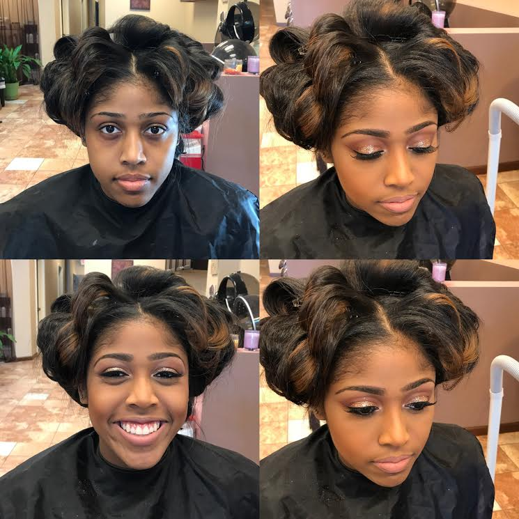 atlanta twin team makeup artist and hair stylist fabulous inspiration prom makeup glitter